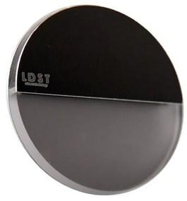 LDST RO-01-CB-BZ4 - LED iluminat scară ROBIN 4xLED/1,2W/230V negru lucios