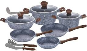 Set oale marmorate, granit -12 piese Forest Line Berlinger Haus BH 1530