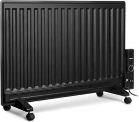 OneConcept WALLANDER, radiator pe ulei, 800 W, termostat, încălzire pe ulei, ultra subțire, negru