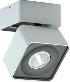 Spot alb/negru din metal cu LED Techno Markt MW Glasberg