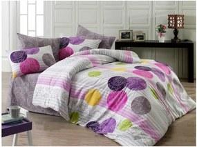 Lenjerie de pat din bumbac cu cearșaf și fețe de pernă Cathrine, 200 x 220 cm