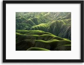 Imagine în cadru - Folds of zelená 40x30 cm