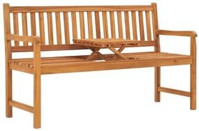 49361 vidaXL Bancă grădină cu 3 locuri, cu masă, 150 cm, lemn masiv de tec