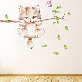 Sticker perete Cat in the tree