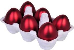Set 6 oua Paste suspendabile rosu sidef  6 cm x 4 cm