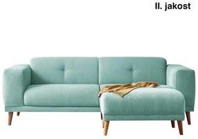 Canapea cu taburet Bobochic Paris Luna, albastru pastelat