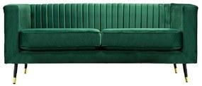 Canapea cu 2-locuri, smarald/negru/gold mosadz auriu, SOMY 2