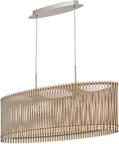 Lustra Sendero III lemn/otel, bej, 2 becuri, 230V