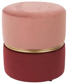 Puf catifea rose Ø35 cm Stool Bubbly Candy   WHITE LABEL LIVING