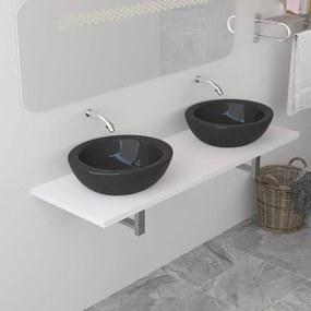 283832 vidaXL Mobilier de baie, alb, 160 x 40 x 16,3 cm