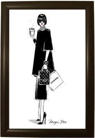 Poster cu ramă Piacenza Art Chanel, 33,5 x 23,5 cm