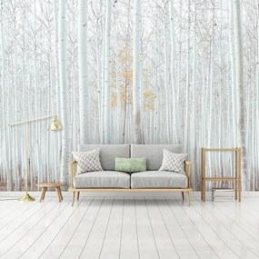 Fototapet - Pădure - albă (254x184 cm), în 8 de alte dimensiuni noi