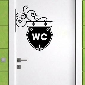 Autocolant decorativ pentru perete WC Arrow