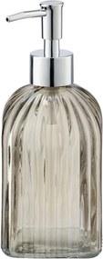 Dozator din sticlă pentru săpun Wenko Vetro, maro