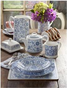 Set 4 căni din porțelan Churchill China Blue Mug, 250 ml