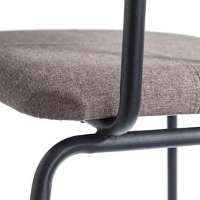 Scaun Maro din Material Textil si Metal 47cm IXIA - Textil Maro Lungime (47cm) x Latime (48cm) x Inaltime (100cm)