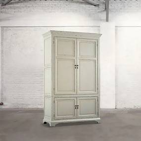 Dulap dormitor Dialma Brown lemn alb DB001597