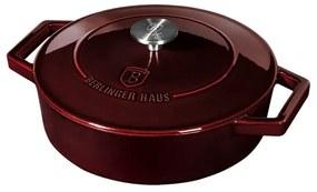 Cratita cu capac 26 cm din fonta emailata Burgundy Metallic Line Berlinger Haus BH 6498