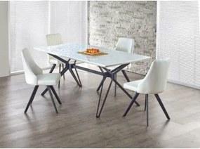 PASCAL masă extensibilă alb-negru