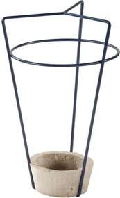 Suport cu bază din beton pentru umbrele MEME Design Ambrogio, albastru