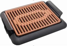 Gratar electric Hausberg, 1250 W, rezistent la temperaturi mari, termostat ajustabil, tava scurgere grasime, HB-536