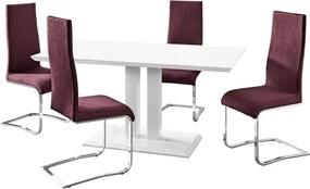 Set masă cu 4 scaune Støraa Mai, violet
