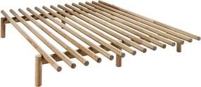 Cadru pat din lemn de pin Karup Design Pace Natural, 160 x 200 cm