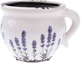 Recipient ceramic ghiveci Lavandă antic, 14x 12 x 9,5 cm