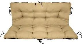 Set perne decorative pentru mobilier paleti,perna sezut 120x70 cm + perna spate 120x40 cm, culoare bej