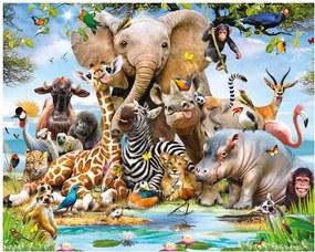 Walltastic Safari - fototapet pe perete 305x244 cm