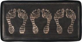 Suport din cauciuc pentru pantofi, cu patină de  bronz, 75 x 40 cm