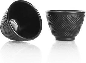 Ceașcă din fontă Bambum Turme, 100 ml, negru