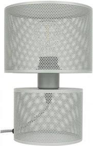 Veioza din metal gri Grid Zuiver