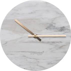 Ceas de perete din marmură Zuiver Marble Time, alb