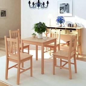 242958 vidaXL Set masă și scaune din lemn de pin, 5 piese