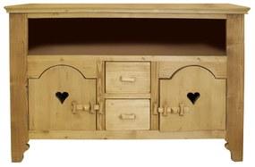 Comoda Rustic din lemn natur 120x49.5x85 cm