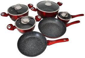 Set oale marmorate 10 piese Imperial Collection IM-ST10-FMT RDB Burgundy