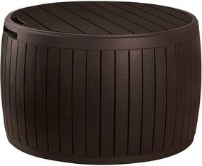 Cutie ovală de depozitare pentru gradină Keter, 68 x 44 cm, maro