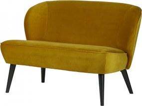 Canapea galbena din catifea 110 cm Sara Woood