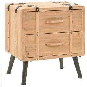 245771 vidaXL Noptieră din lemn masiv de brad, 50x35x57 cm