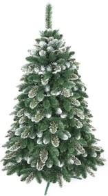 artificiale bradul de crăciun - aur zăpadă pin 220 cm