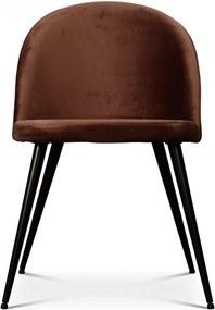Scaun INGRID Maro din Poliester si Metal 48cm OPJET PARIS - Poliester Maro Lungime (48cm) x Latime (50cm) x Inaltime (77cm)