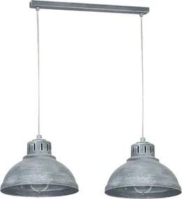 Pendul 2xE27 argintiu Ancient Klausen KL-6490
