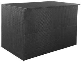 44245 vidaXL Ladă de depozitare de grădină, negru, 150x100x100 cm, poliratan