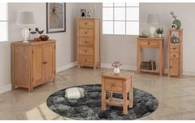 274709 vidaXL Set mobilier sufragerie, 5 piese, stejar masiv