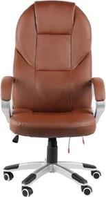 Scaun birou cu Masaj, spătar înalt, piele ecologică, SIB 826M