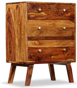 244358 vidaXL Dulap lateral, lemn masiv de sheesham, 60 x 35 x 76 cm