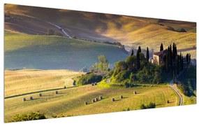 Tablou cu peisaj și casă (K011283K7050)