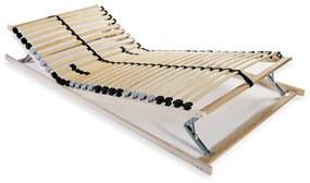 246455 vidaXL Bază de pat cu șipci, 28 șipci, 7 zone, 70 x 200 cm
