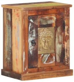 321811 vidaXL Noptieră cu fronturi Buddha, 40 x 30 x 50 cm, lemn reciclat